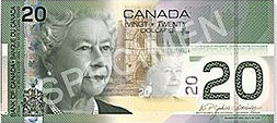 Canadian Dollar Banknote