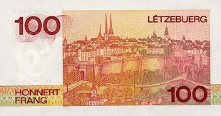 Luxembourg Franc Banknote