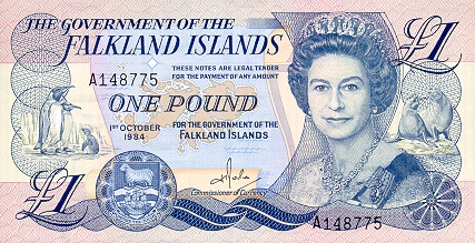 Falkland Islands Pound Banknote