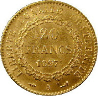 French Franc Coin