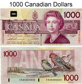 ... account home xr currency photos canada post view 1000 canadian dollars