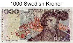 Currency exchange sweden