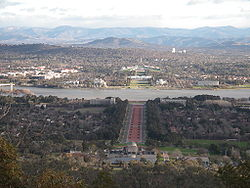 Photo of the city of Canberra