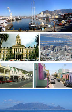 Photo of the city of Cape Town