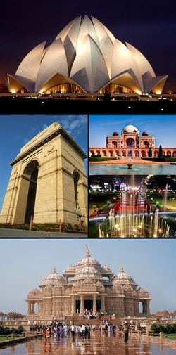 Photo of the city of New Delhi