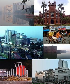 Photo of the city of Dhaka