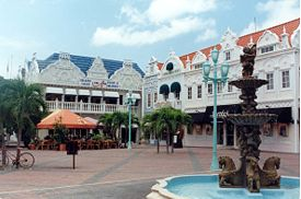 Photo of the city of Oranjestad