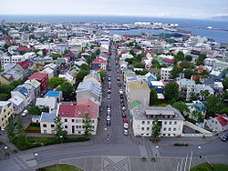 Photo of the city of Reykjavik