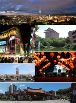Photo of the city of Taipei City