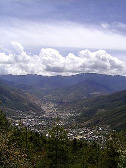 Photo of the city of Thimphu