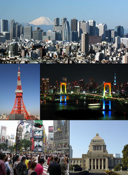 Photo of the city of Tokyo