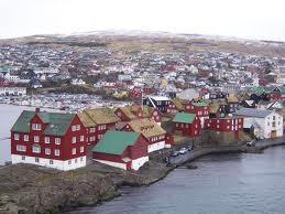 Photo of the city of Torshavn
